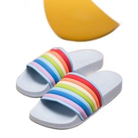 Sweet Shoes Chinelos de borracha coloridos azul multicolorido 2