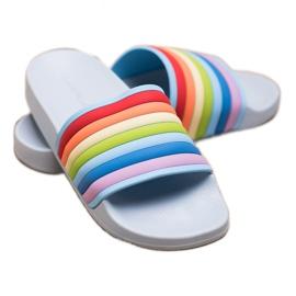Sweet Shoes Chinelos de borracha coloridos azul multicolorido 5