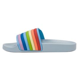Sweet Shoes Chinelos de borracha coloridos azul multicolorido 3