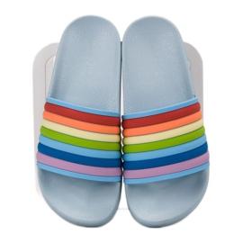 Sweet Shoes Chinelos de borracha coloridos azul multicolorido 4