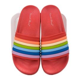 Sweet Shoes Chinelos de borracha coloridos vermelho multicolorido 3