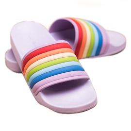 Sweet Shoes Chinelos de borracha coloridos tolet multicolorido 2
