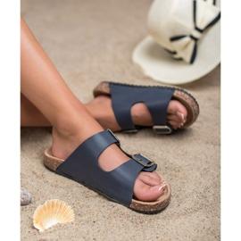 Seastar Chinelos azul marinho com fivela 3
