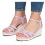 Sandálias de cunha roxa Glavel roxo 2