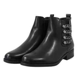 Kayla Shoes Botas isoladas pretas 8961 preto 3