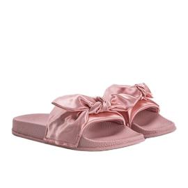 Chinelos rosa com laço 5835 1