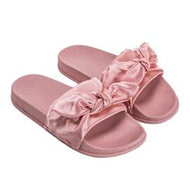 Chinelos rosa com laço 5835 2