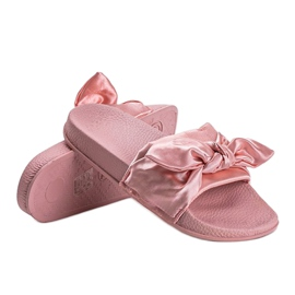Chinelos rosa com laço 5835 3