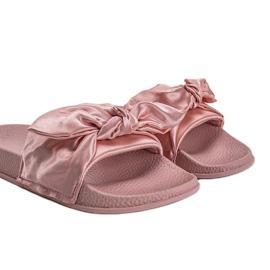Chinelos rosa com laço 5835 4