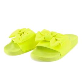 Chinelos de néon MU-6 amarelos com um laço 2