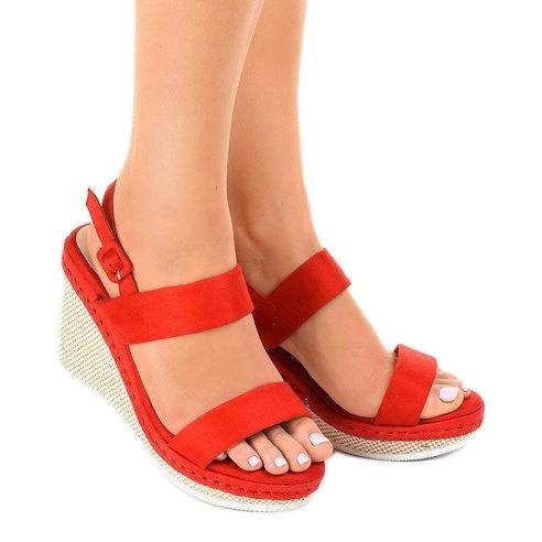 Sandálias de cunha U 6291 vermelhas vermelho