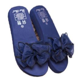 Best Shoes Chinelos de espuma com laço azul 2
