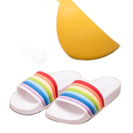 Sweet Shoes Chinelos de borracha coloridos branco multicolorido 3