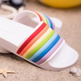 Sweet Shoes Chinelos de borracha coloridos branco multicolorido 1