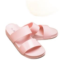 SHELOVET Chinelos de borracha elegantes rosa 1
