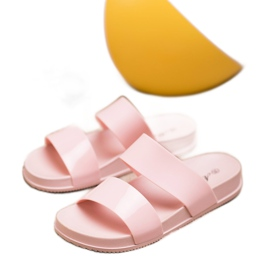 SHELOVET Chinelos de borracha elegantes rosa 2