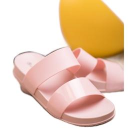 SHELOVET Chinelos de borracha elegantes rosa 3