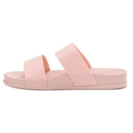 SHELOVET Chinelos de borracha elegantes rosa 4
