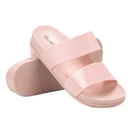 SHELOVET Chinelos de borracha elegantes rosa 5