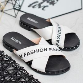 SHELOVET Chinelos de moda brancos 1