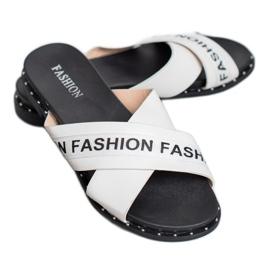SHELOVET Chinelos de moda brancos 2