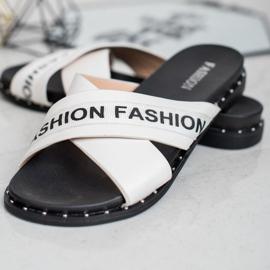 SHELOVET Chinelos de moda brancos 3
