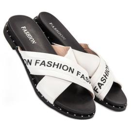 SHELOVET Chinelos de moda brancos 4