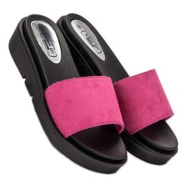 SHELOVET Sandálias de cunha rosa 1