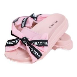 Jumex Chinelos com laço de amor rosa 2
