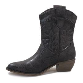 Botas de cowgirl cinza 10601-1 2