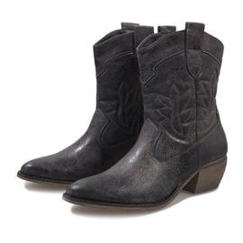 Botas de cowgirl cinza 10601-1 3