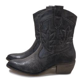 Botas de cowgirl cinza 10601-1 4