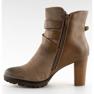 Botas de tornozelo marrom 8287 cáqui 4