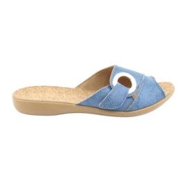 Sapatos femininos Befado pu 265D015 azul 1