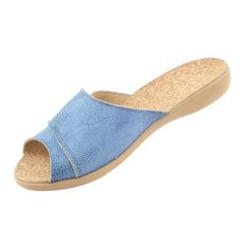 Sapatos femininos Befado pu 265D015 azul 3