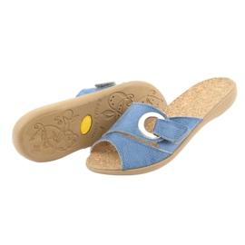 Sapatos femininos Befado pu 265D015 azul 5