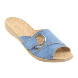 Sapatos femininos Befado pu 265D015 azul 2