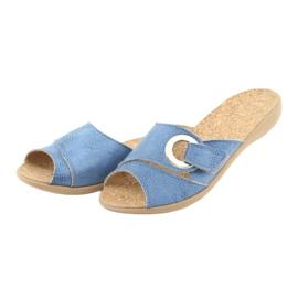 Sapatos femininos Befado pu 265D015 azul 4