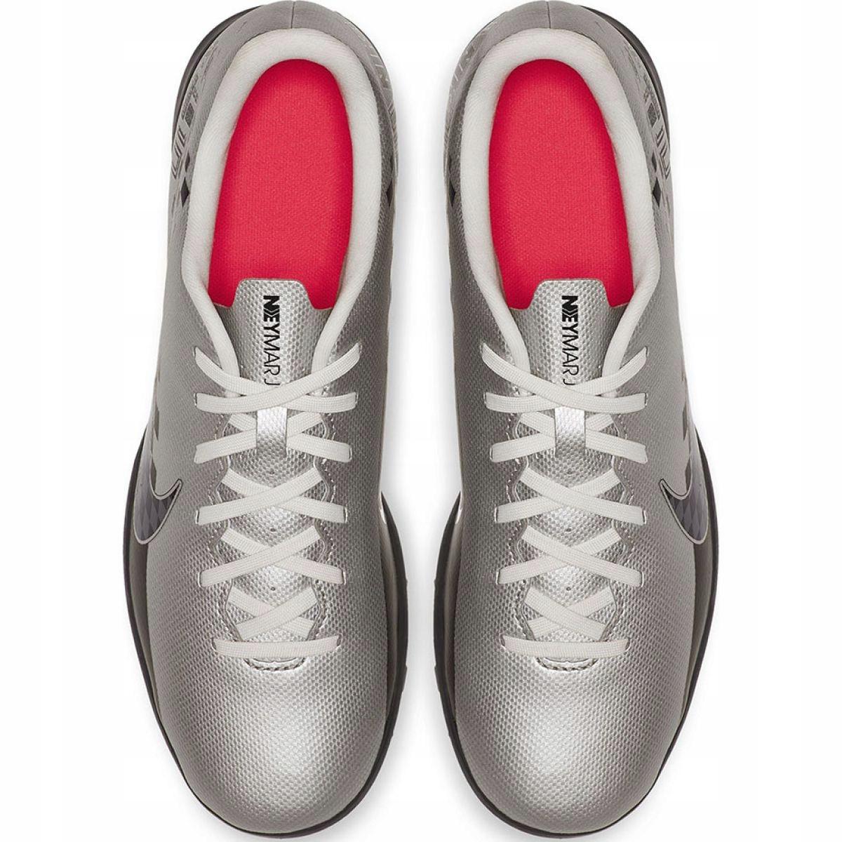 Chuteiras de futebol Nike Mercurial Vapor 13 Club Neymar Tf M AT8000 006 prata cinza prata