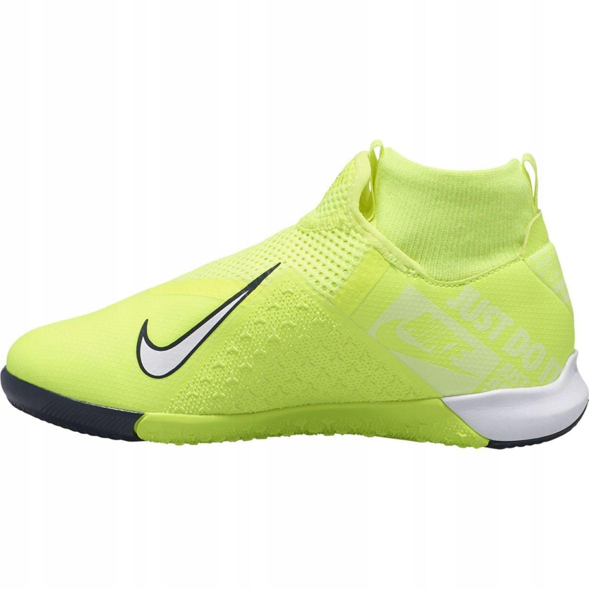 Tênis de corrida Nike Phantom Vsn Academy Df Ic Jr AO3290 717 amarelo amarelo