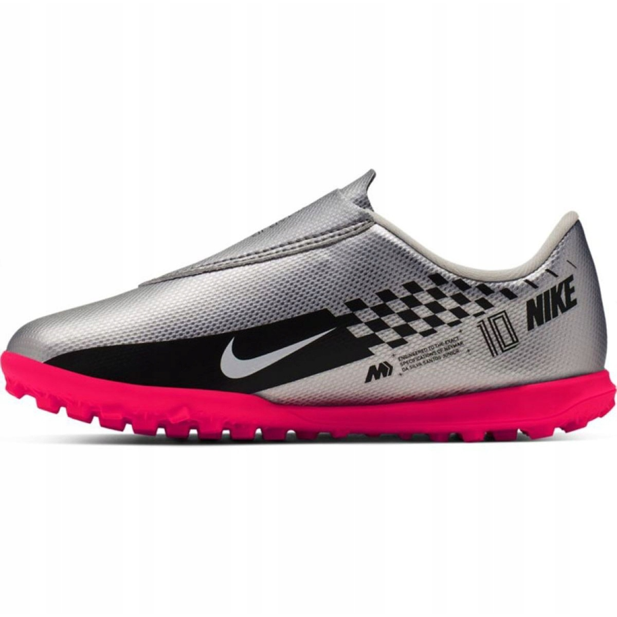 Sapatilhas Nike Mercurial Vapor 13 Club Tf Neymar Jr AT8176 006 cinza cinza prata
