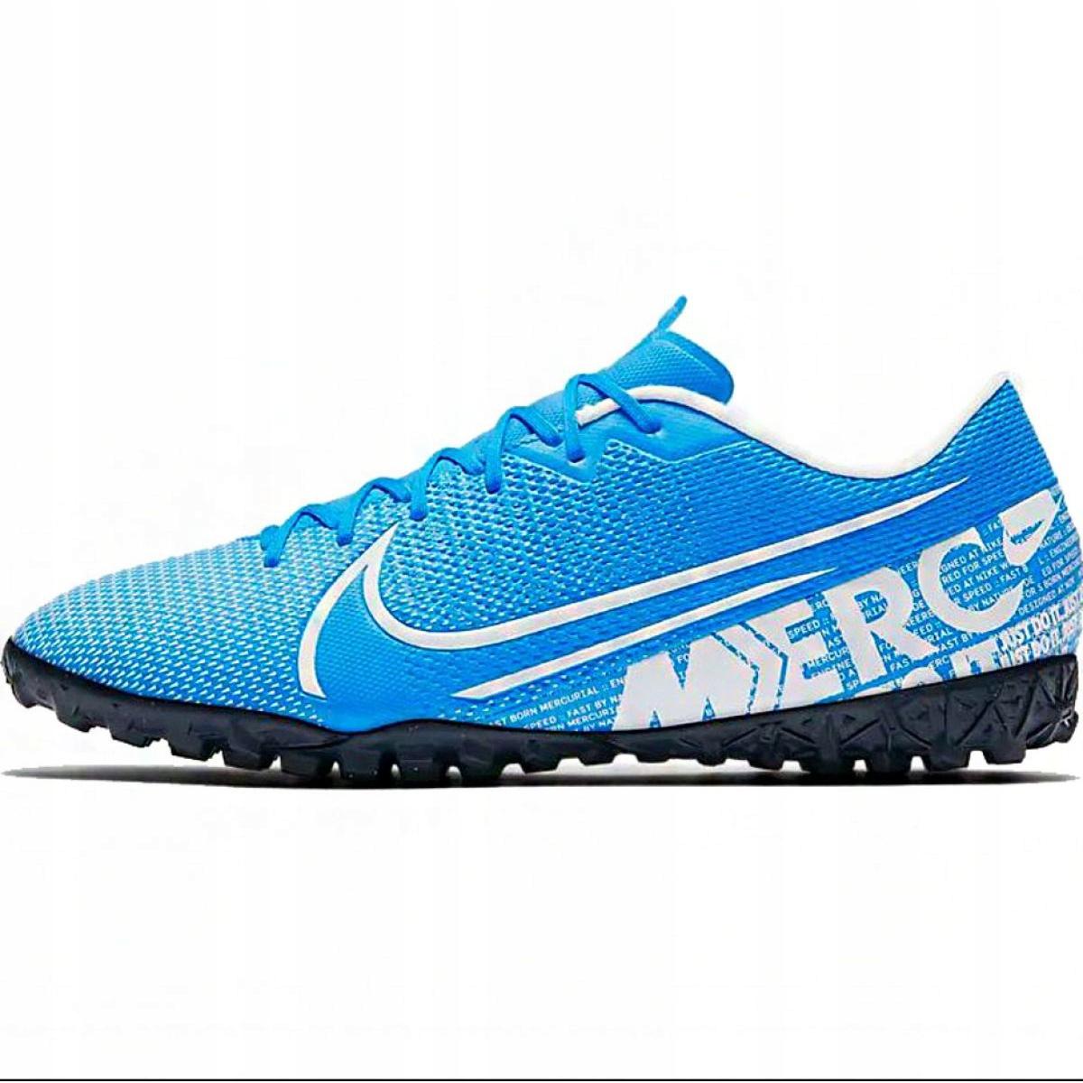 Chuteiras de futebol Nike Mercurial Vapor 13 Academy M Tf AT7996 414 azul branco, azul