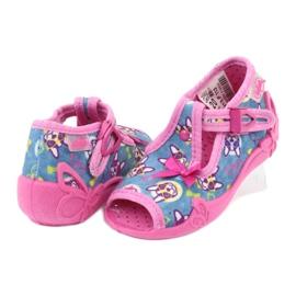Sapatos infantis Befado rosa 213P113 4