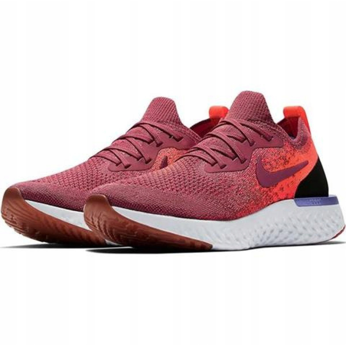 Tênis Nike Epic React Flyknit W AQ0070 601 vermelho