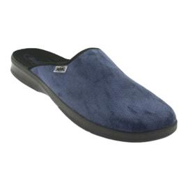 Sapatos masculinos befado pu 548M018 preto marinha 2