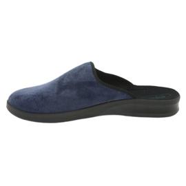 Sapatos masculinos befado pu 548M018 preto marinha 3