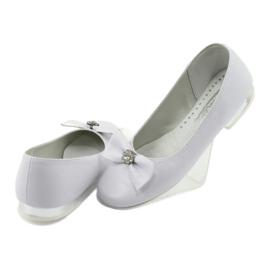 Bombas de bailarinas de comunhão brancas Miko 800 branco 4