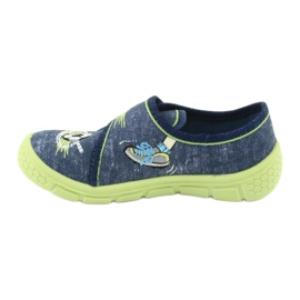 Calçado infantil Befado 557P138 marinha verde 3