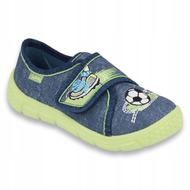 Calçado infantil Befado 557P138 marinha verde 1