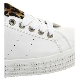 Tênis branco leopardo na plataforma M-071 4